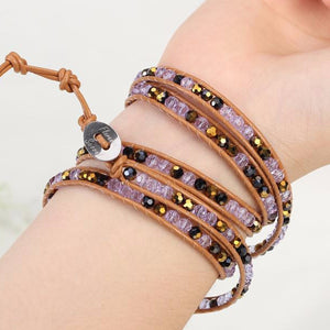 Purple Gold Wrap Bracelet - Florence Scovel - 4