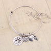Paw Print Charm Bangle - Florence Scovel - 6