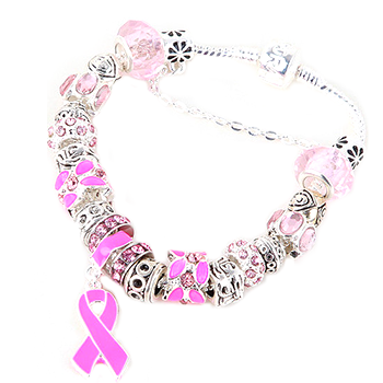 Pink Ribbon Awareness Bracelet - Florence Scovel