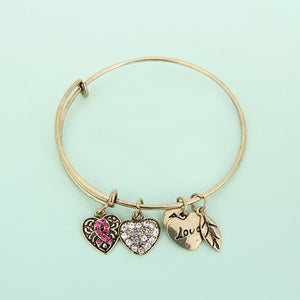 Pink Ribbon Charm Bangle - Florence Scovel - 6