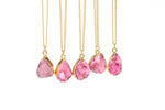 Pink Druzy Stone Necklace - Florence Scovel - 3