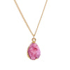 Pink Druzy Stone Necklace - Florence Scovel - 4