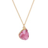 Pink Druzy Stone Necklace - Florence Scovel - 5