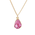 Pink Druzy Stone Necklace - Florence Scovel - 1