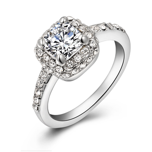 Cubic Crystal Promise Ring - Florence Scovel