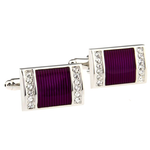 Purple Crystal Cufflink - Florence Scovel