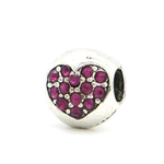 Purple Drop Heart Charm - Florence Scovel
