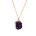 Purple Druzy Stone Necklace - Florence Scovel - 4