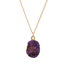 Purple Druzy Stone Necklace - Florence Scovel - 6