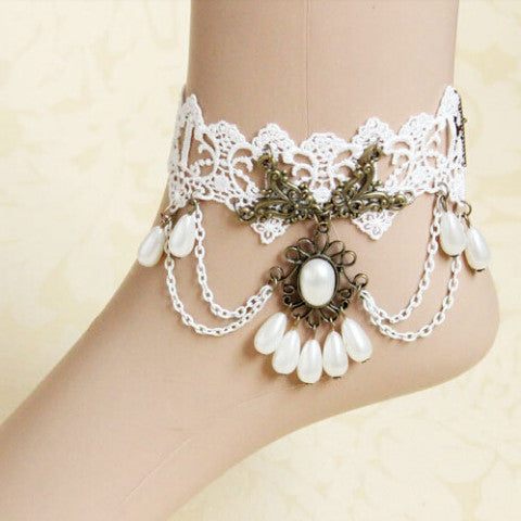 White Pearl Anklet - Florence Scovel - 1