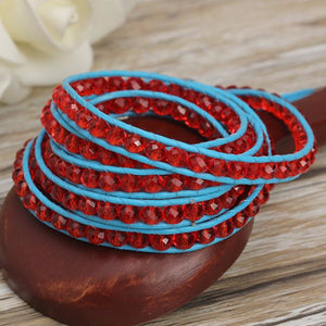 Red Gem Wrap Bracelet - Florence Scovel - 3