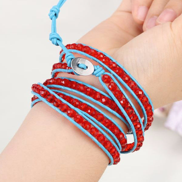 Red Gem Wrap Bracelet - Florence Scovel - 4