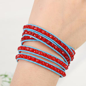 Red Gem Wrap Bracelet - Florence Scovel - 5