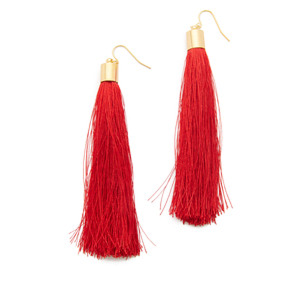 Long Fib Tassel  Earring - Florence Scovel - 1