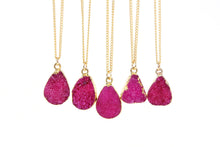 Rose Red Druzy Stone Necklace - Florence Scovel - 5