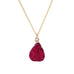 Rose Red Druzy Stone Necklace - Florence Scovel - 6