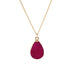 Rose Red Druzy Stone Necklace - Florence Scovel - 1