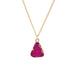 Rose Red Druzy Stone Necklace - Florence Scovel - 8
