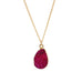 Rose Red Druzy Stone Necklace - Florence Scovel - 10