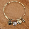 Rose Heart Charm Bangle - Florence Scovel - 6