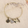 Rose Heart Charm Bangle - Florence Scovel - 3