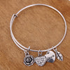 Rose Heart Charm Bangle - Florence Scovel - 5