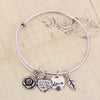 Rose Heart Charm Bangle - Florence Scovel - 4
