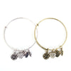 Rose Heart Charm Bangle - Florence Scovel - 7