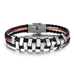 Rough Tracks Stainless Steel Men's Bracelet - Florence Scovel - 1