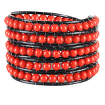 Royal Red Wrap Bracelet - Florence Scovel - 1