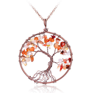 Wisdom Tree Quartz Pendant Necklace - Florence Scovel - 3
