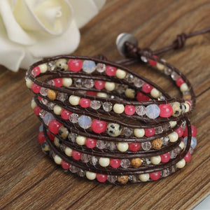 Soft Pink Natural Wrap Bracelet - Florence Scovel - 4