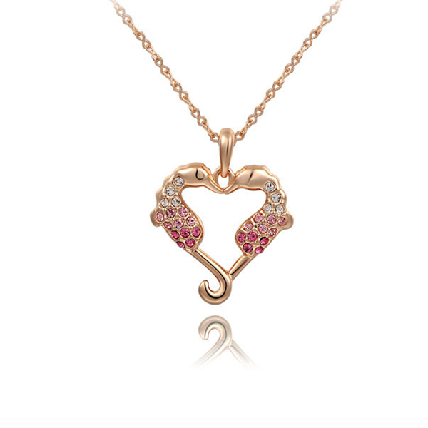 Sea Horse Love Heart Pendant - Florence Scovel