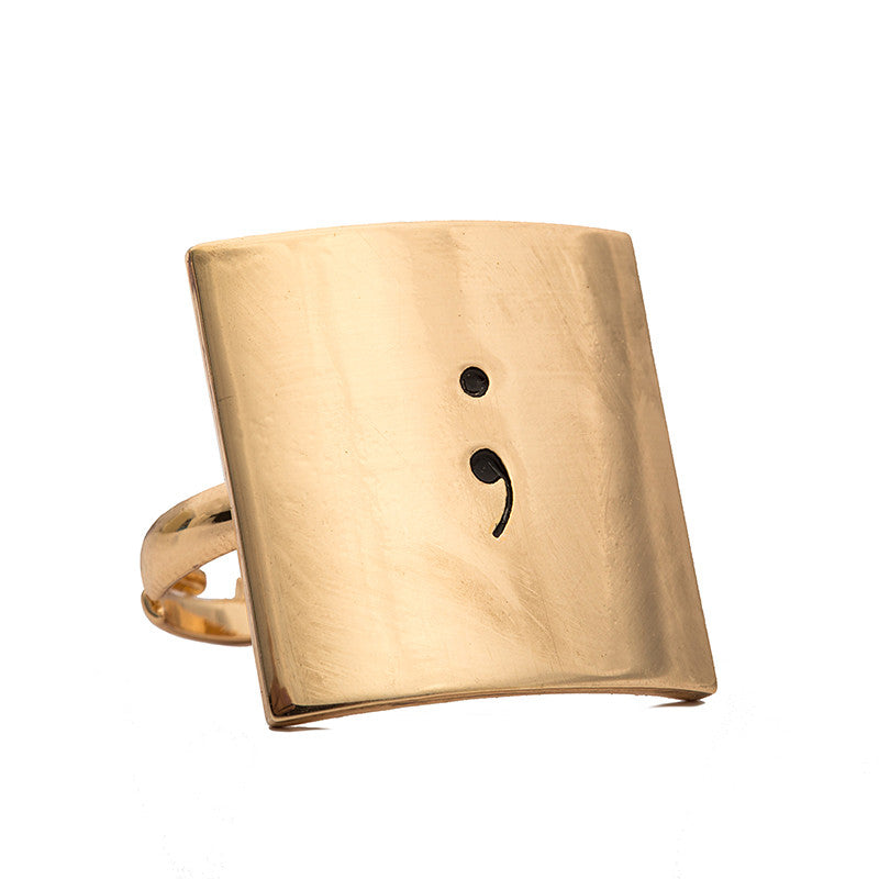Semicolon Adjustable Ring - Florence Scovel - 4