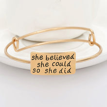 She Believed Adjustable Charm Bangle - Florence Scovel - 5