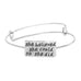 She Believed Adjustable Charm Bangle - Florence Scovel - 3