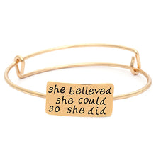 She Believed Adjustable Charm Bangle - Florence Scovel - 6