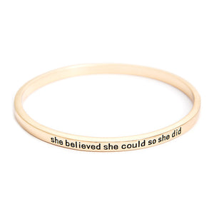 She Believed She Could So She Did Simple Bangle - Florence Scovel - 3