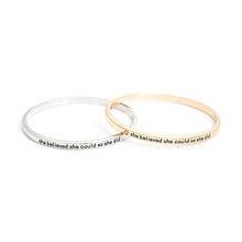 She Believed She Could So She Did Simple Bangle - Florence Scovel - 2