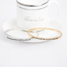 She Believed She Could So She Did Simple Bangle - Florence Scovel - 4