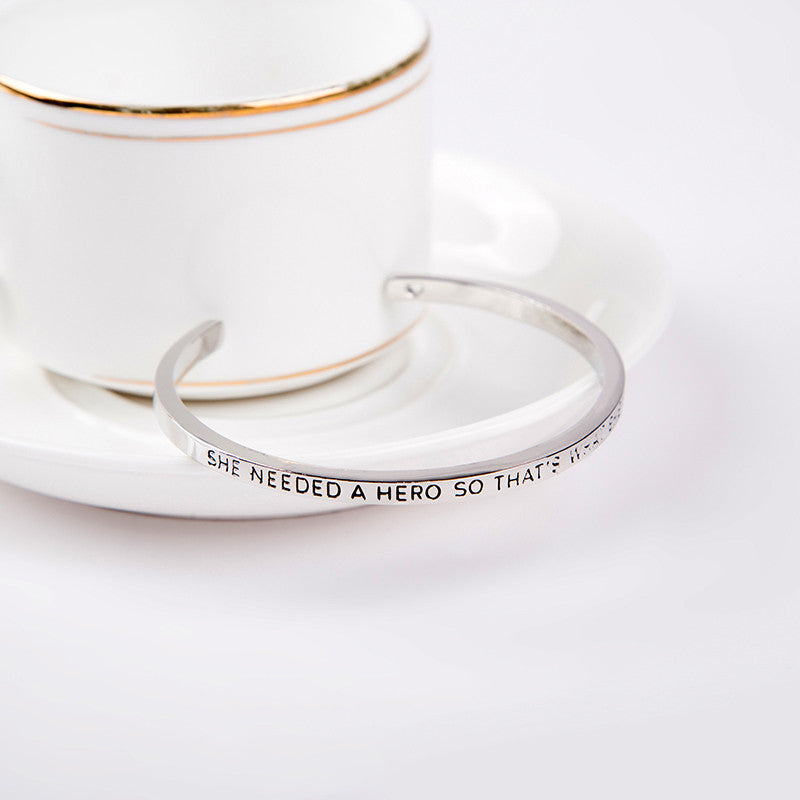 She Needed A Hero Cuff Bangle - Florence Scovel - 6