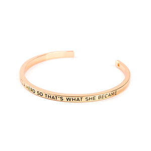 She Needed A Hero Cuff Bangle - Florence Scovel - 3