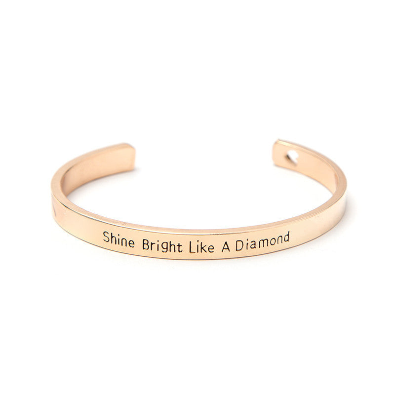 Shine Bright Like A Diamond Cuff Bangle - Florence Scovel - 2