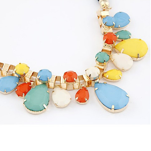 Rain Drop Statement Necklace - Florence Scovel - 2