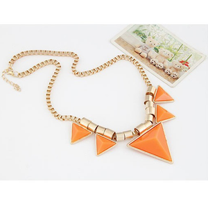 Bold Triangle Statement Necklace - Florence Scovel - 3