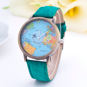 Denim World Map Watch - Florence Scovel - 3
