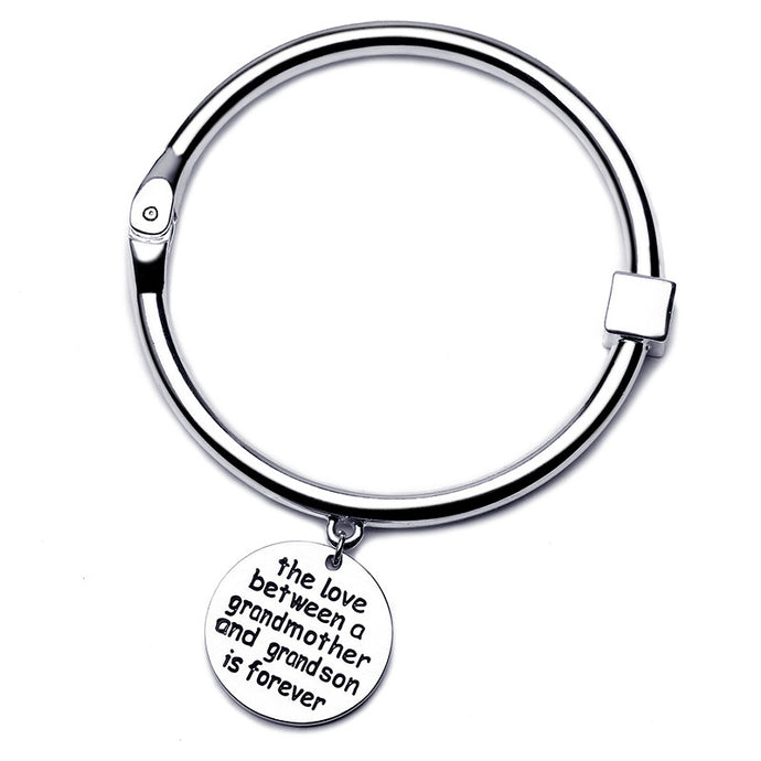The Love Between Grandmother and Grandson Bangle - Silver - Florence Scovel - 1