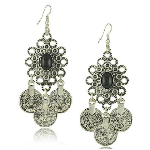 Vintage Tribal Earrings - Florence Scovel - 1