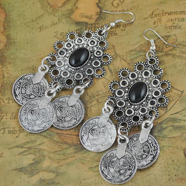 Vintage Tribal Earrings - Florence Scovel - 2