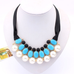 Ribbon Pearl Choker Statement Necklace - Florence Scovel - 1